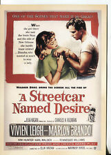 PICTURE POST CARD OF OLD MOVIE POSTER  A  STREETCAR NAMED DESIRE LEIGH & BRANDO