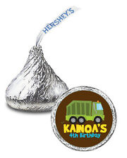 108 Garbage Truck Birthday Party Favors Personalized Kisses Labels