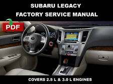SUBARU 2010 2011 2012 2013 2014 LEGACY FACTORY SERVICE REPAIR SHOP FSM MANUAL