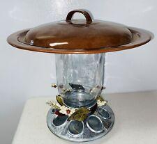New listing Leaf Design Vintage Lid Mason Jar Hanging Bird Seed Feeder