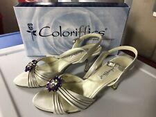 Coloriffics Wedding Shoes 7W Ivory