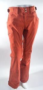 WOMENS AIRBLASTER STAY WILD SNOWBOARD PANTS $200 M rust orange USED waterproof