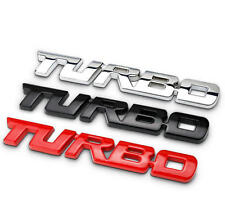 Chrome/Black/Red TURBO Car Sticker Badge Adhesive Auto Decal Tailgate Emblem