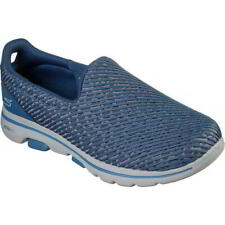 Skechers Go Walk 5 Miracle Womens Ladies Slip On Shoes Trainers Blue Size 3-8
