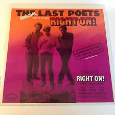 The Last Poets - Right On SEALED LP - Gatefold Cover - Soundtrack