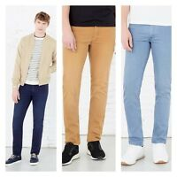 Mens Top Branded Twill Chino Jeans with Strechy 7 Colours Slim Fit pant Trouser