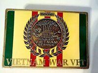 """Vietnam Veteran 1959 - 1975 Belt Buckle  3 1/4"""""""