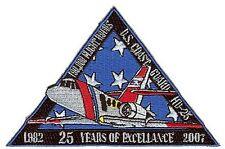 HU-25 Falcon Guardian anniversary triangle W4572 USCG Coast Guard patch