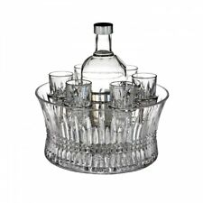 Waterford Crystal Lismore Diamond 7 Piece Vodka Set in Chill Bowl 11cm