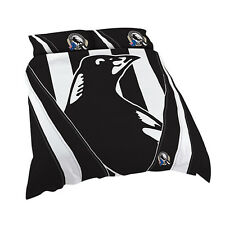Collingwood Magpies AFL QUEEN Bed Quilt Doona Duvet Cover Set *NEW 2018* GIFT