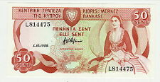 Billets Chypre (Banknotes Cyprus), 50 Sent Type 1987-92  UNC  /NEUF