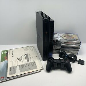 Sony PlayStation 2 PS2 Console Joblot With 10 Games & Official Controller TESTED