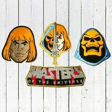 Set MOTU Embroidered Patches Skeletor He-man Logo Power Sword Masters Universe