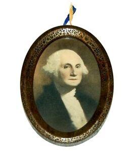 late 1800's vintage GEORGE WASHINGTON Framed Oval Photo photograph portrait