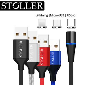 3in1 Schnell Ladekabel Datenkabel Micro-USB Typ-C Lightning Handy Samsung iPhone