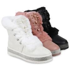 Damen Stiefeletten Winter Boots Warm Gefütterte Outdoor 824879 Schuhe