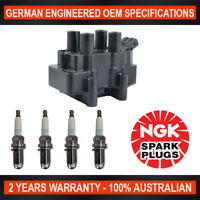 4x Genuine NGK Spark Plugs & 1x Ignition Coils for Holden Astra TR Vectra  JR JS