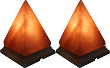 New Pack of 2 Geomatric Shape Pyramid Indus Classic Himalayan Crystal Salt Lamp