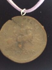 """Sestertius Of Nero Roman Coin WC29 Made From Pewter On 18"""" Purple Cord Necklace"""