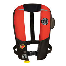 Mustang HIT Automatic Inflatable PFD Hydrostatic Life Vest w/ Harness Red/Black