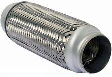 "50 x 100mm Braided 2 x 4"" Inch Exhaust Flexible Flexi Flex Joint Pipe Repair"