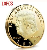 10X Donald Trump 2020 Keep America Great Commander Chief Gold Challenge Coin EN