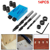 Pocket Hole Screw Jig Dowel Drill Joinery Kit 6/8/10mm Woodwork Guides Tool new