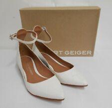 Gorgeous KG Kurt Geiger croc print white shoes all leather 3cm low heel 36 UK3