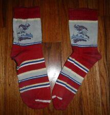 SUPERMAN Socks 1949 RARE Pair of Red Socks Original Used