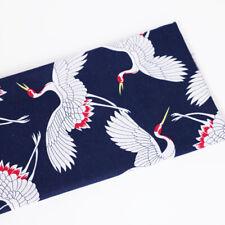 1 Yard Crane Printed linen cotton Textiles Japan Fabric Design