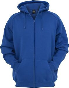 Urban Classics - Ziphoody, Pullover Jacke Kapuzensweatjacke Royal/Royalblau