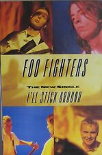 "40x60"" HUGE BUS SHELTER POSTER~Foo Fighters 1995 I'll Stick Around Collage Rare~"