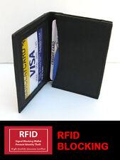 Black RFID BLOCKING Men Leather Bifold Thin Wallet ID Window Plain Card Case New
