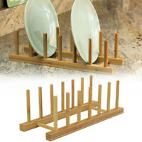 Home Bamboo Dish Rack Dishes Drainboard Drying Drainer Storage Cabinet Organizer
