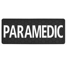 """PARAMEDIC 5""""x2"""" PVC rubber body armor plate carrier EMS EMT Medical hook patch"""
