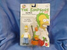 Homer Simpson Simpsons Vintage Mattel 1990 NOC Figure with 5 fatherly phrases