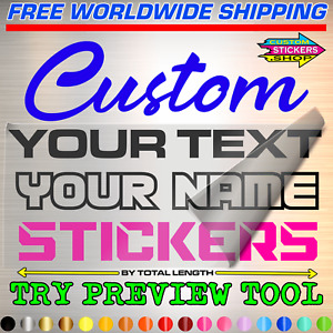 CUSTOM TEXT TRANSFER STICKER Personalized Name Lettering Vinyl Decal Sign Labels