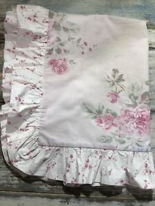 Vtg RARE Retired Simply Shabby Chic Pillow Sham Ruffled Floral