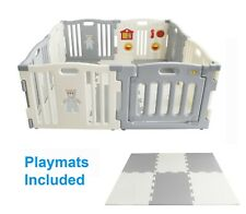 MCC® Large Foldable Plastic Baby Playpen Indoor& Outdoor With Optional Playmats