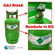 Bombola Gas refrigerante r134a 12kg ricarica aria condizionata auto rivoira