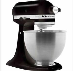 NEW KitchenAid - Classic Tilt-Head 4.5 qt Stand Mixer Black SAME DAY SHIPPING