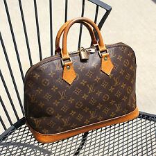 Authentic Louis Vuitton Monogram Alma Handbag w/ Lock Vintage LV Bag