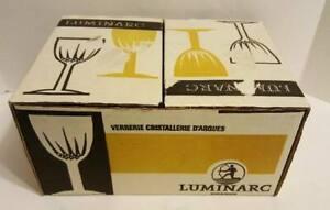 Luminarc Vtg Mid Century Miniature Wine Shot Glass Set In Original Box