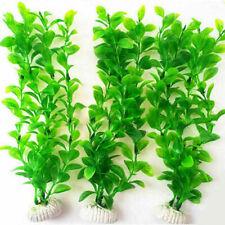 "10.6"" Height Green Plastic Artificial Water Plants Tank For Aquarium Fish U F5Q9"