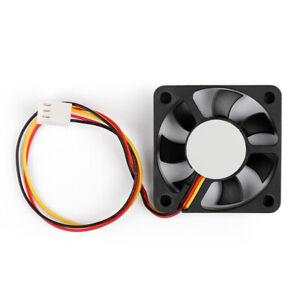 50x50x10mm Mini Cooling fan 12V Motor Engine Cooler Black 3Pin Connector