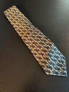 "NWT new Cocktail Collection Stonehenge Theme Silk Tie Necktie 55"" 3.75"""