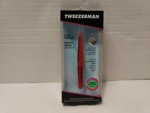 NEW Tweezerman Stainless Point Tips Tweezers - Red (1241-CR)