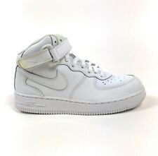 Nike Air Force 1 Mid (PS) Triple White 2Y Shoes Sneakers Strap Retro 314196-123
