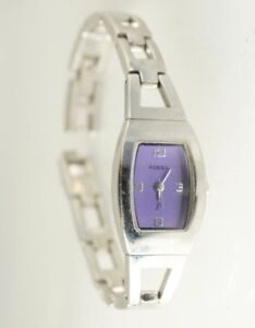 Fossil ES9423 F2 Women's Analog Purple Dial Silver Tone Band