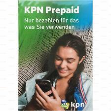 SIM-Karte Anonym Aktiviert Ohne Ausweis KPN NL mit 10 € Guthaben Einsatzbereit